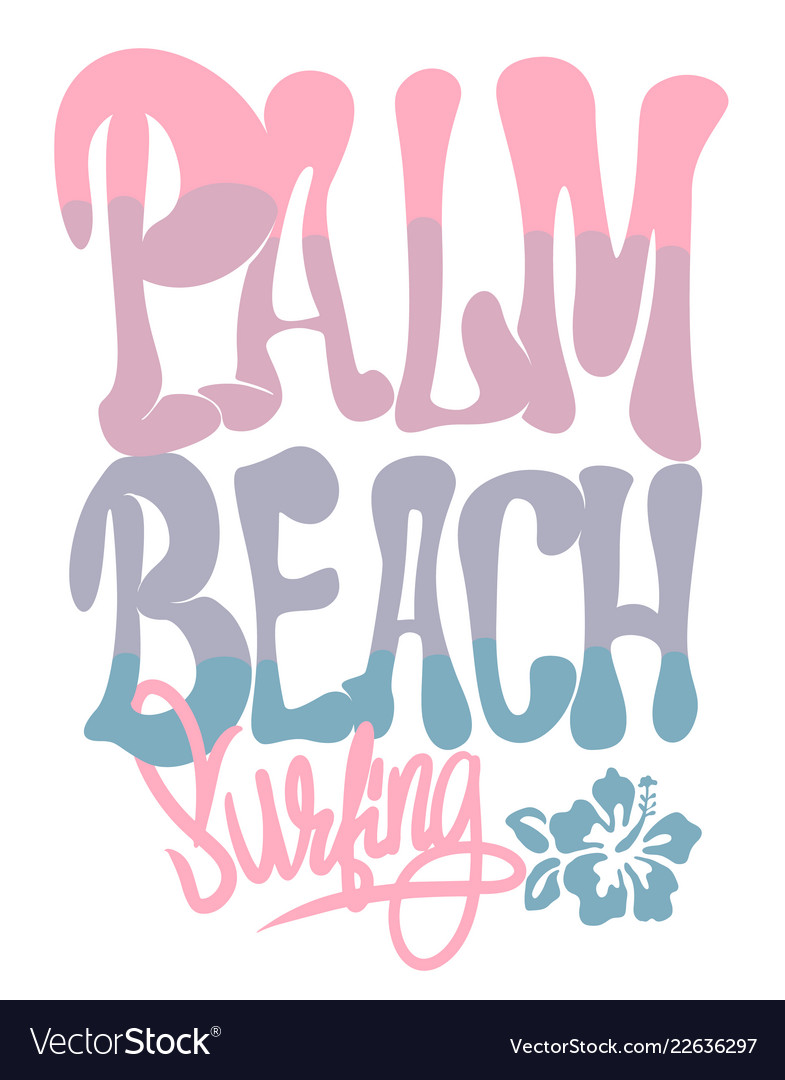 Palm beach california t-shirt graphic