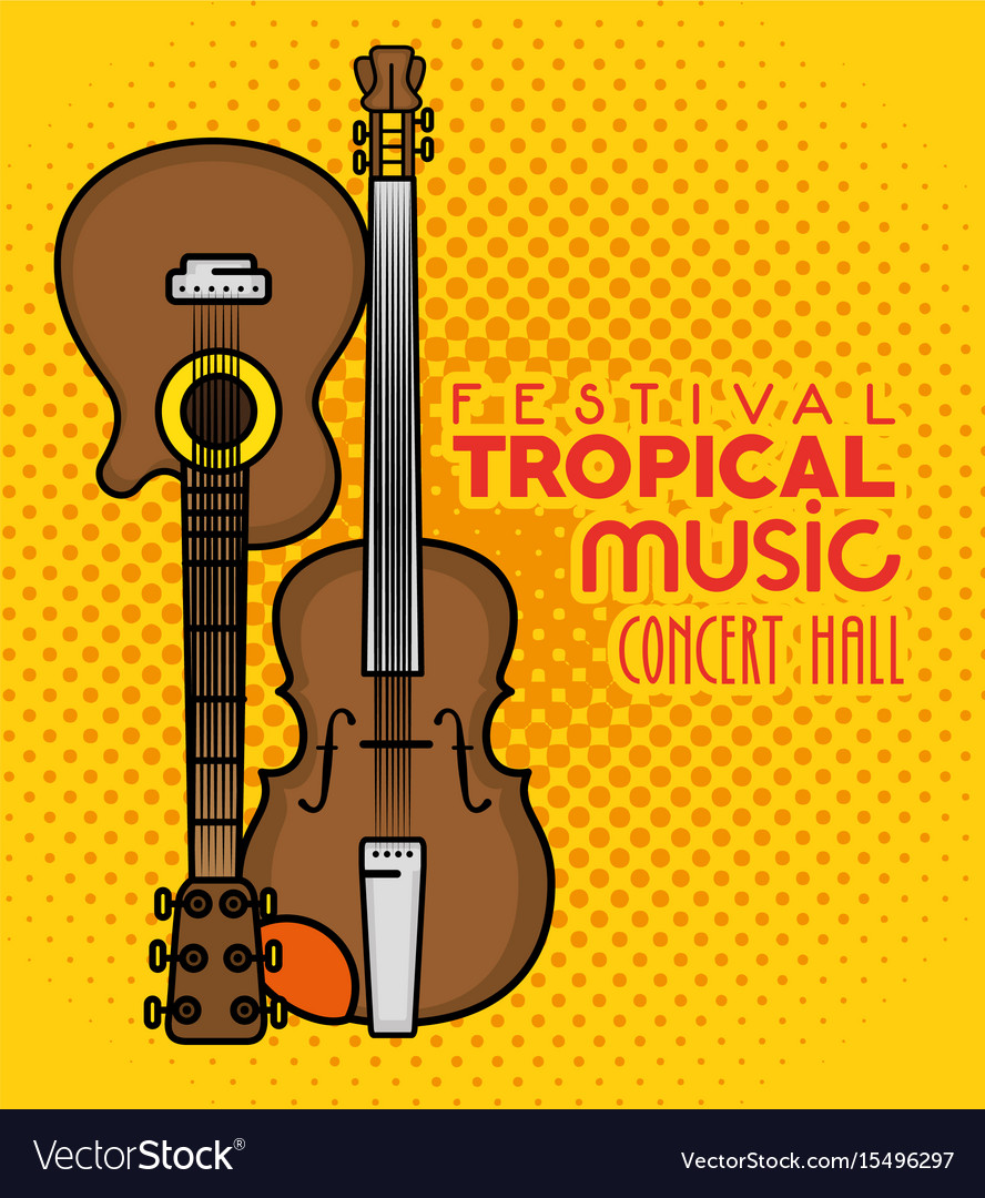 Poster festival tropical music