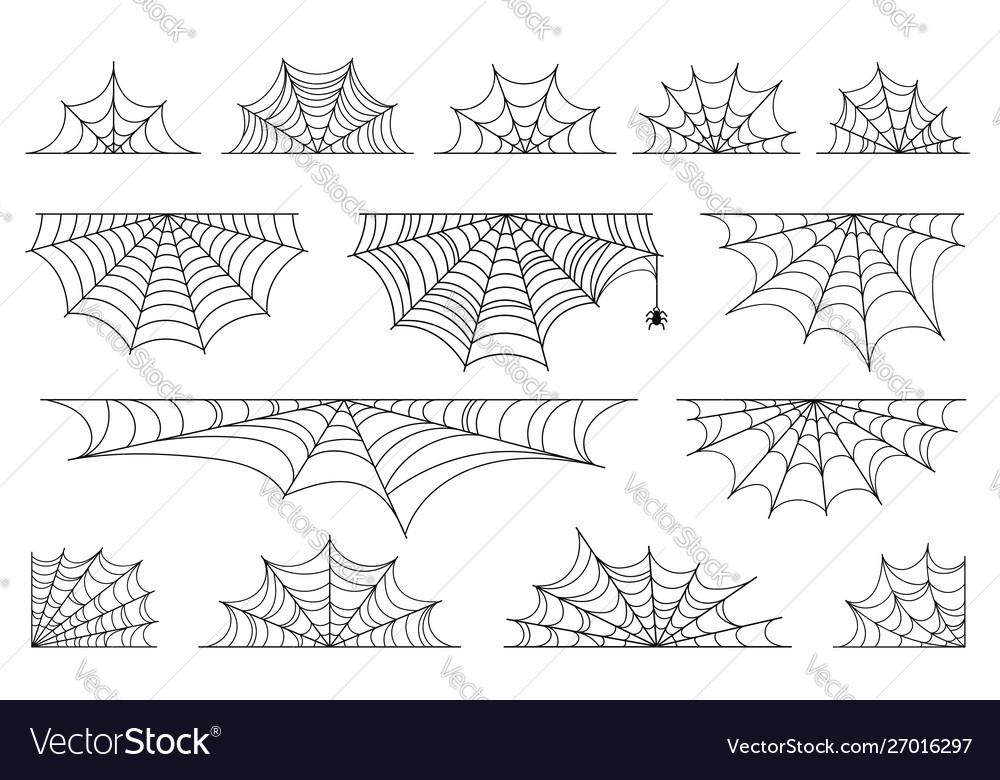 Set spider web for halloween halloween cobweb