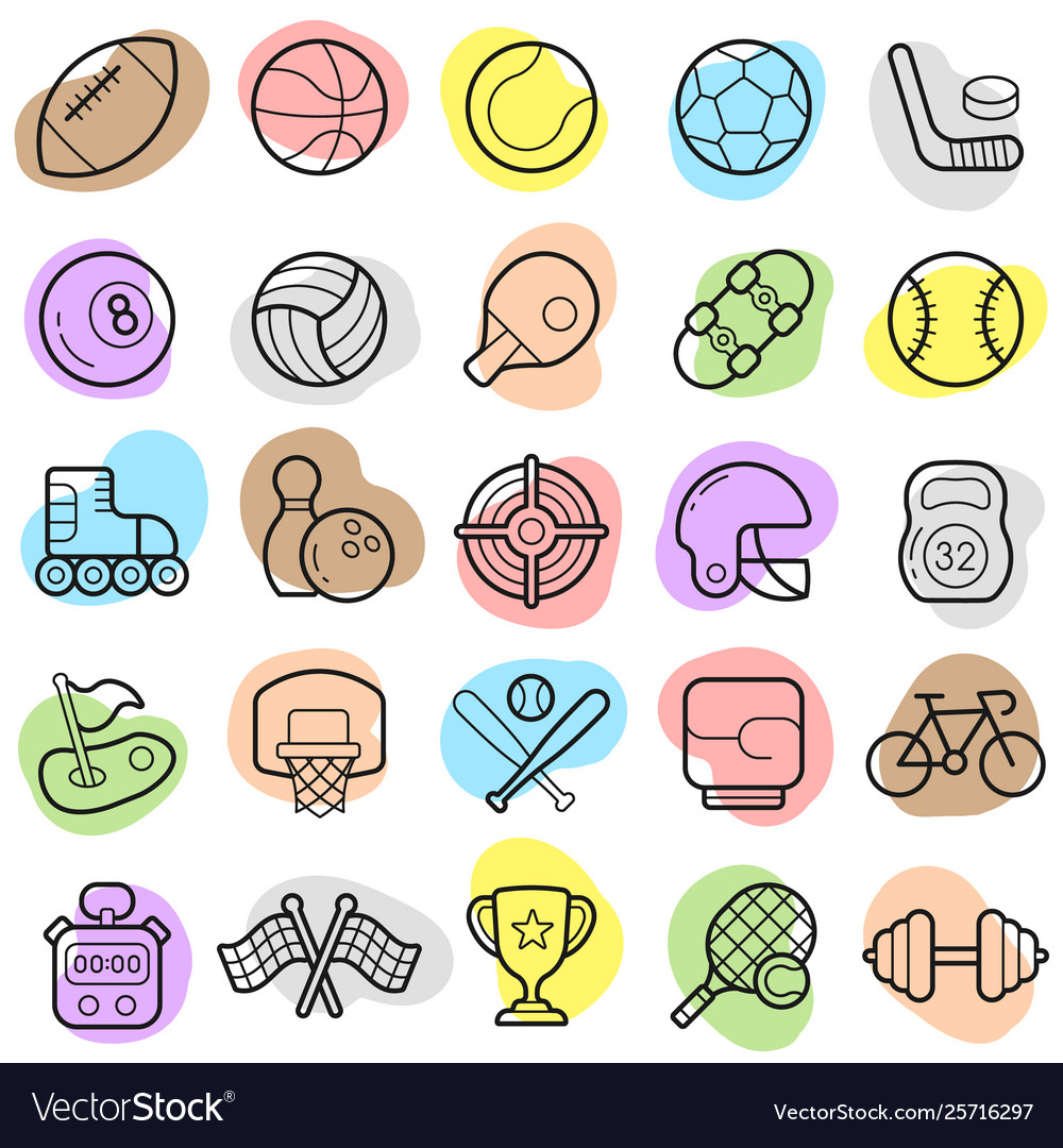 Sports trendy new icon set eps