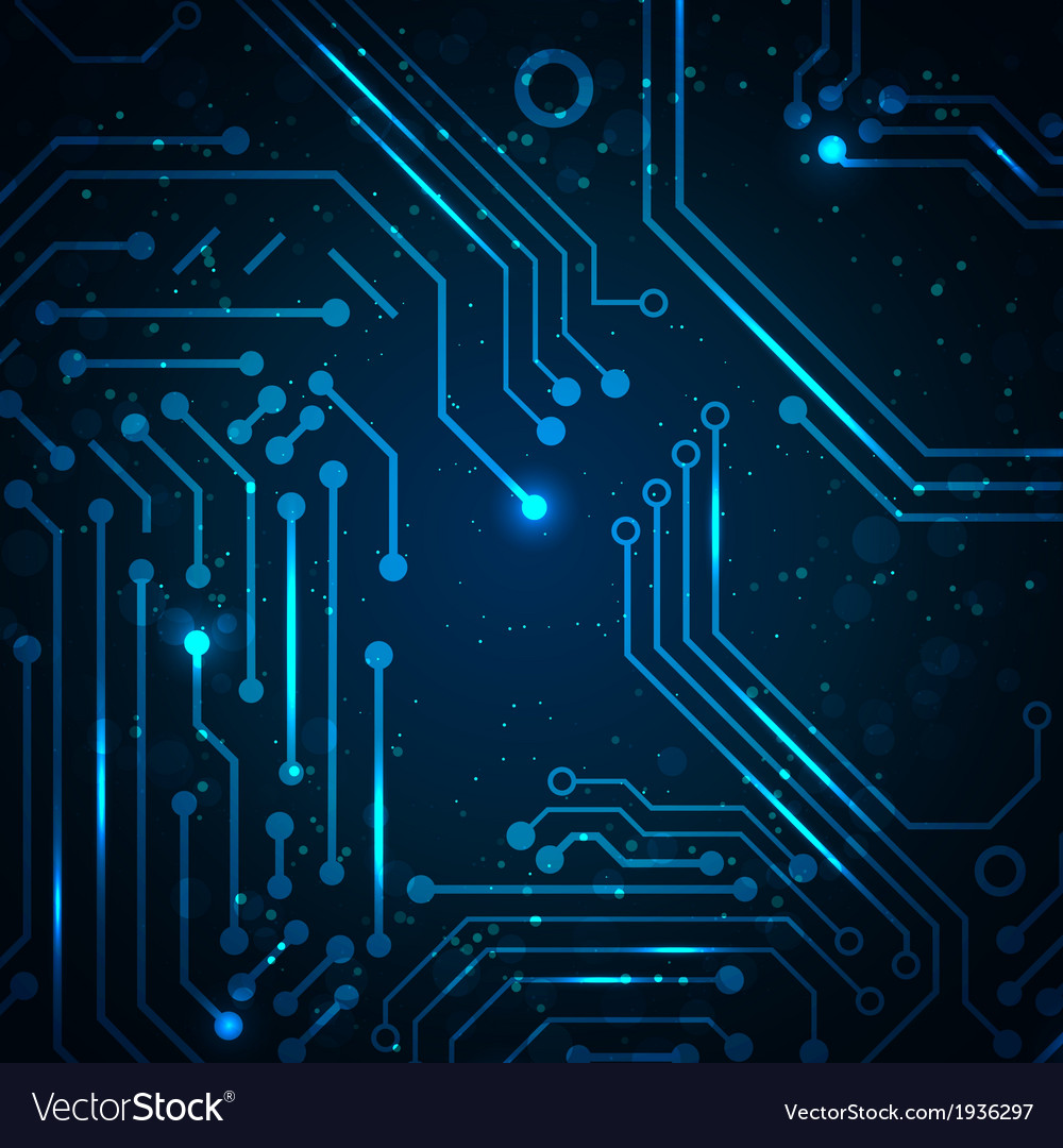 Technology Background With Circuit Board Elements Vector Image Place For Text