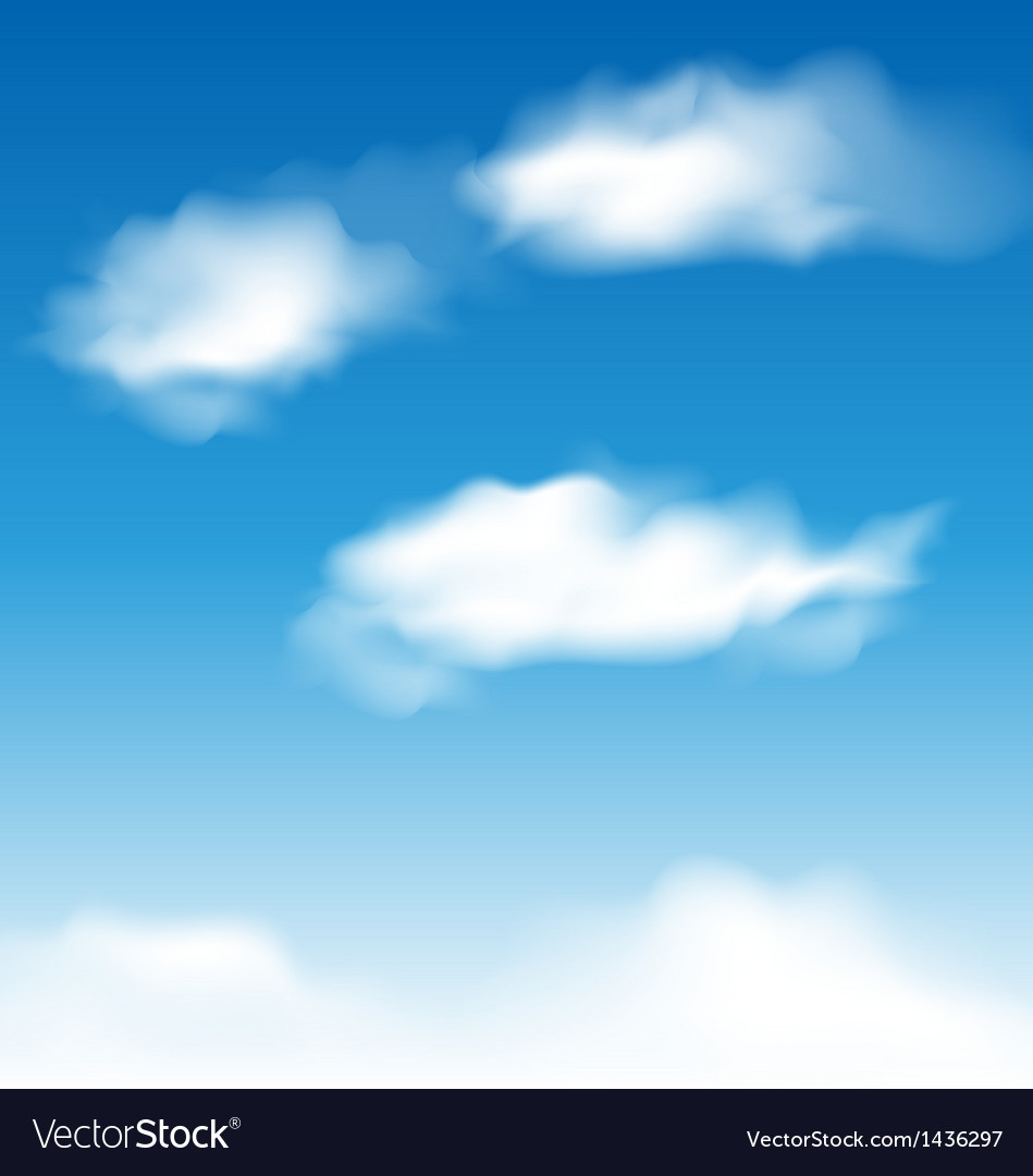 Wallpaper blue sky with realistic clouds