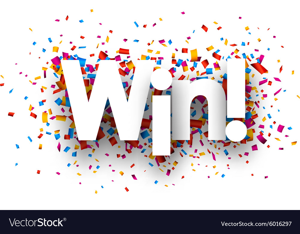 Win sign vector image