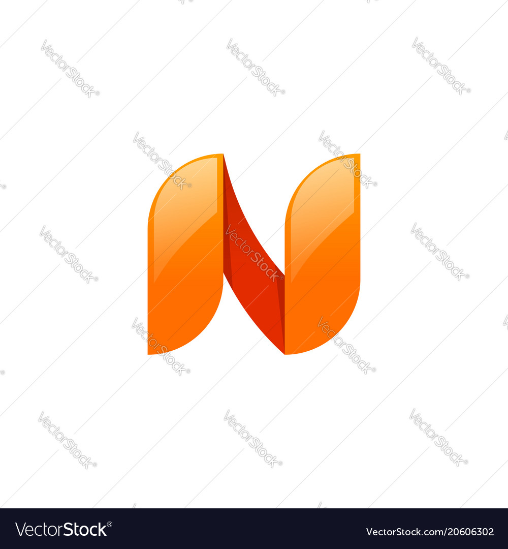 Abstract letter n logo element design beauty