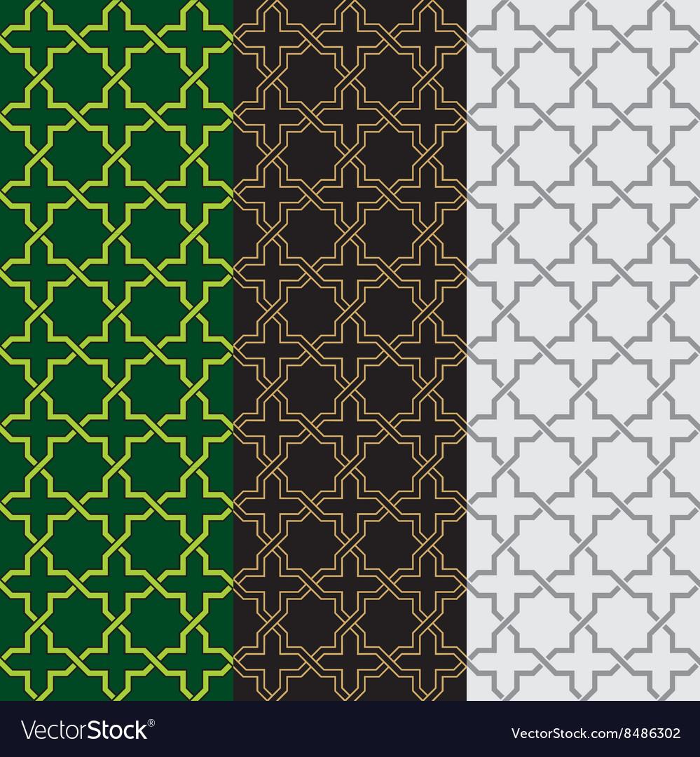 Arabic and Islamic Geometry Seamless Patterns