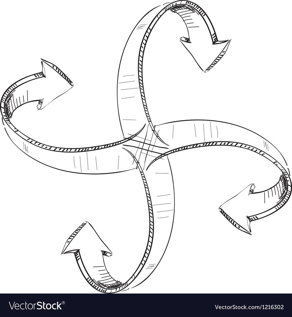 Arrows around center