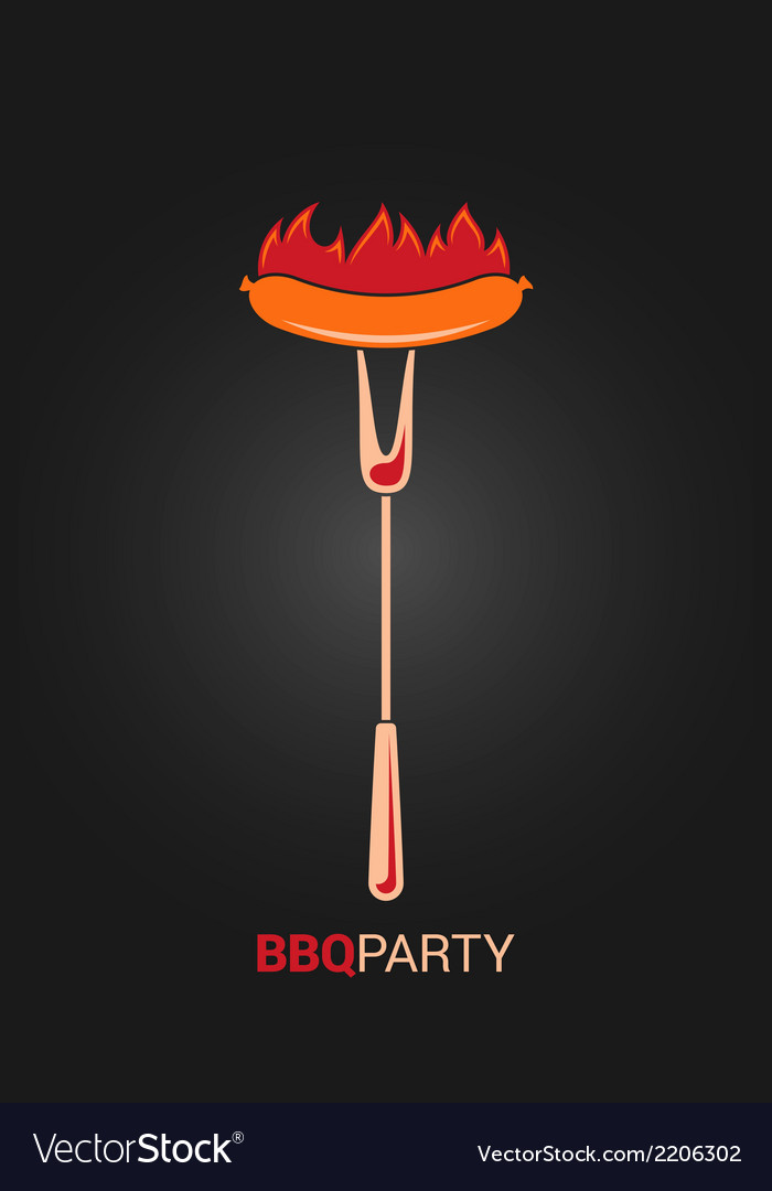 Barbecue grill party design menu background vector image