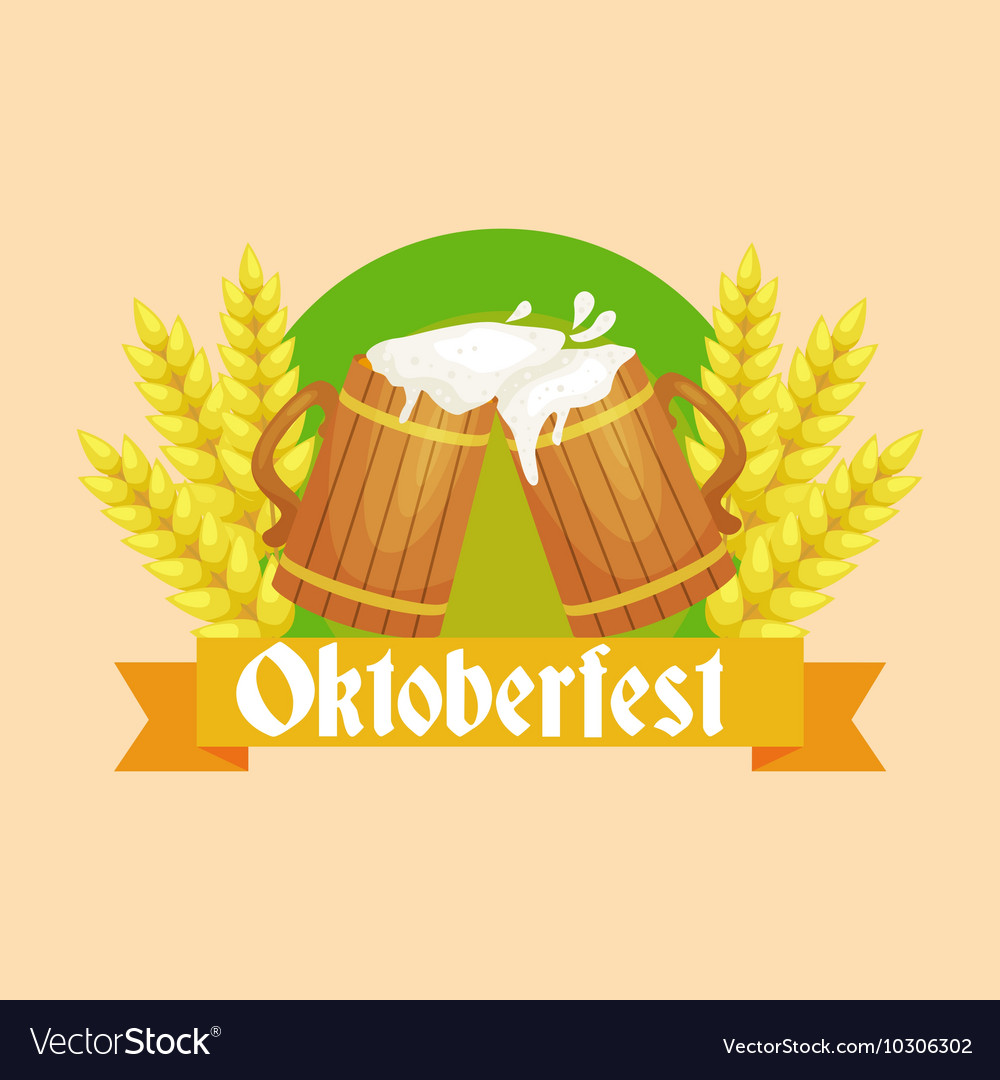 Beer festival Oktoberfest celebrations retro style