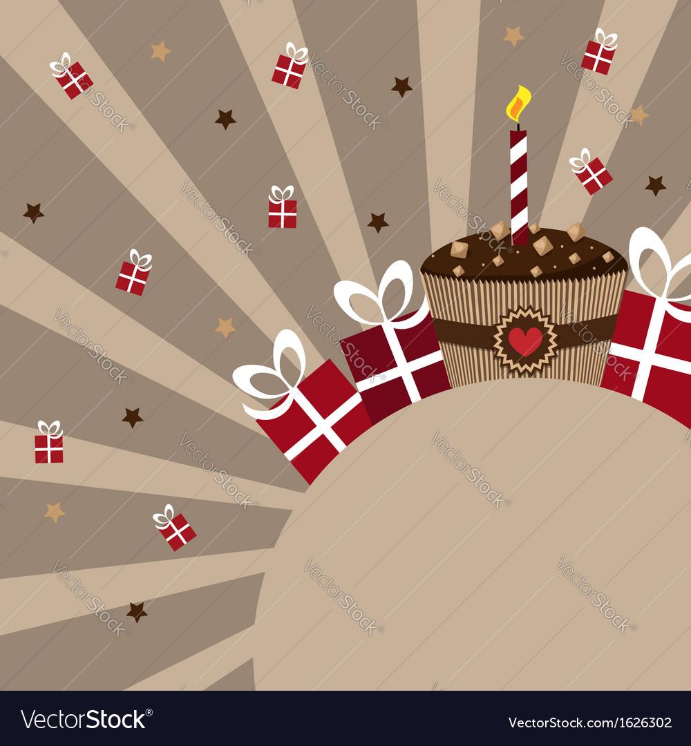 Birthday card chocolate