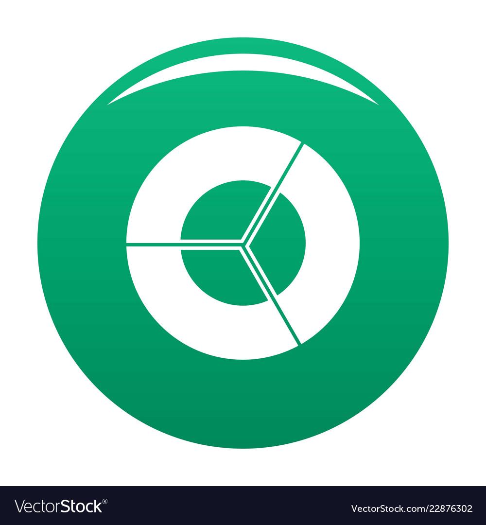 Circle diagram icon green