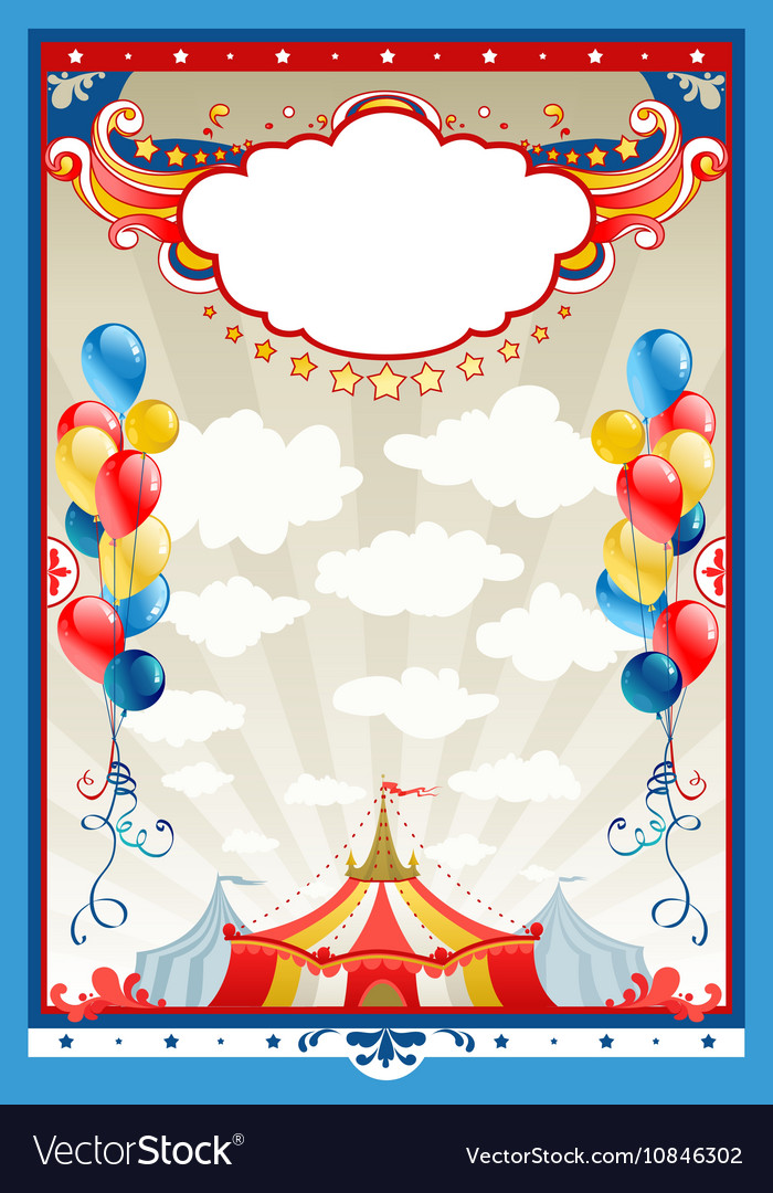 Circus frame Royalty Free Vector Image - VectorStock
