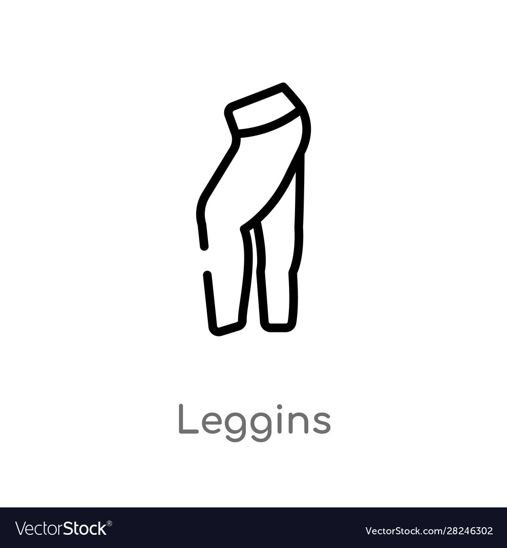 Outline leggins icon isolated black simple line
