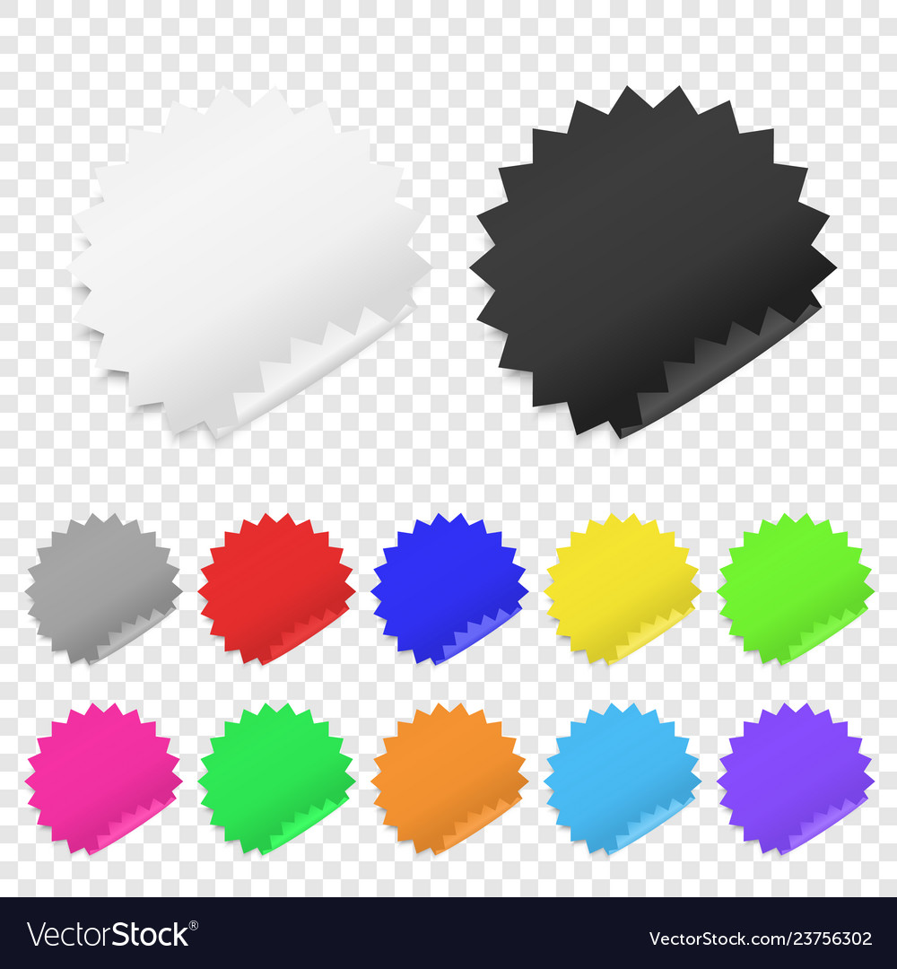 Realistic 3d circle adhesive colored blank