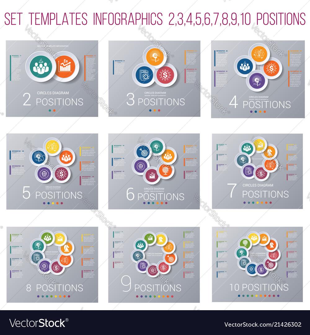 Set 9 templates circles diagram infographics for