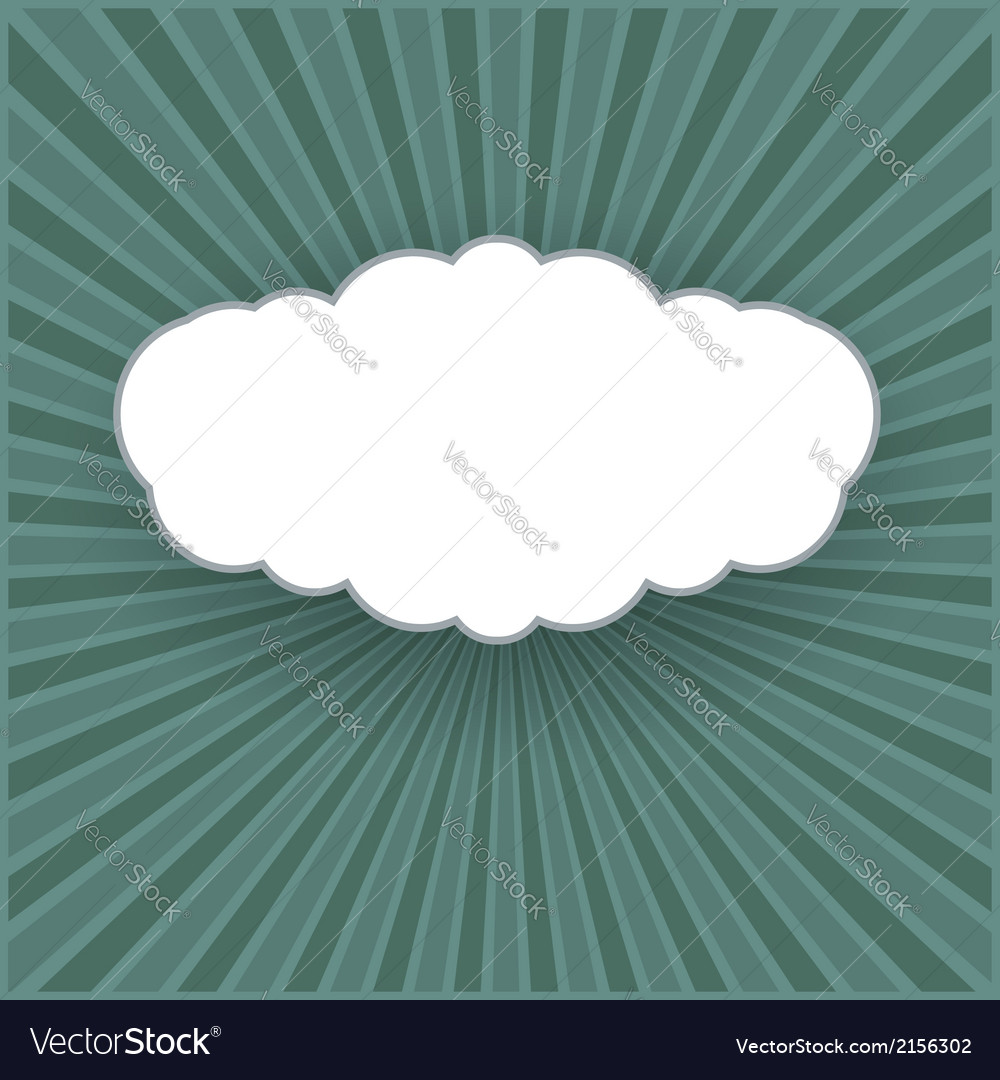 Vintage background with form of a cloud