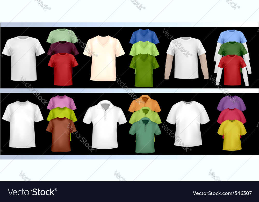 blank t shirt design template. Color tshirt design template