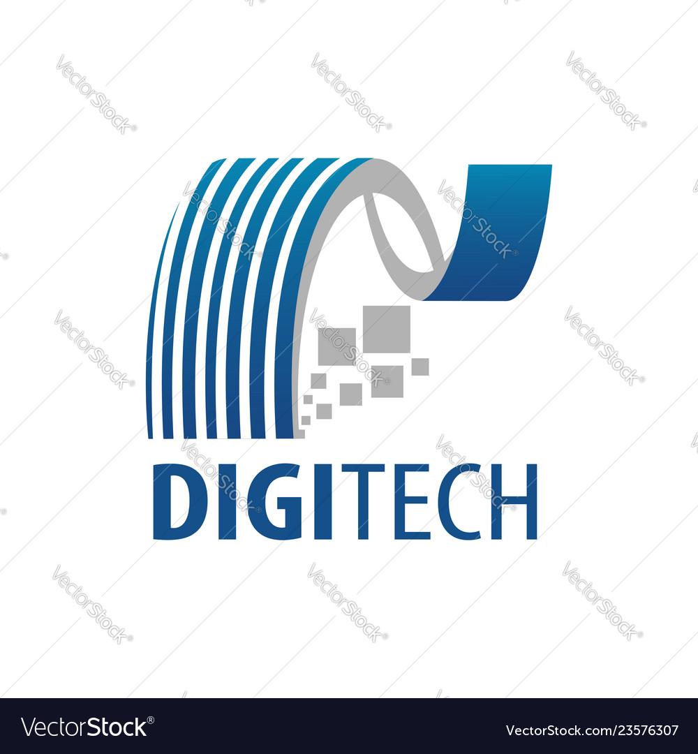 Digital technology logo concept design symbol