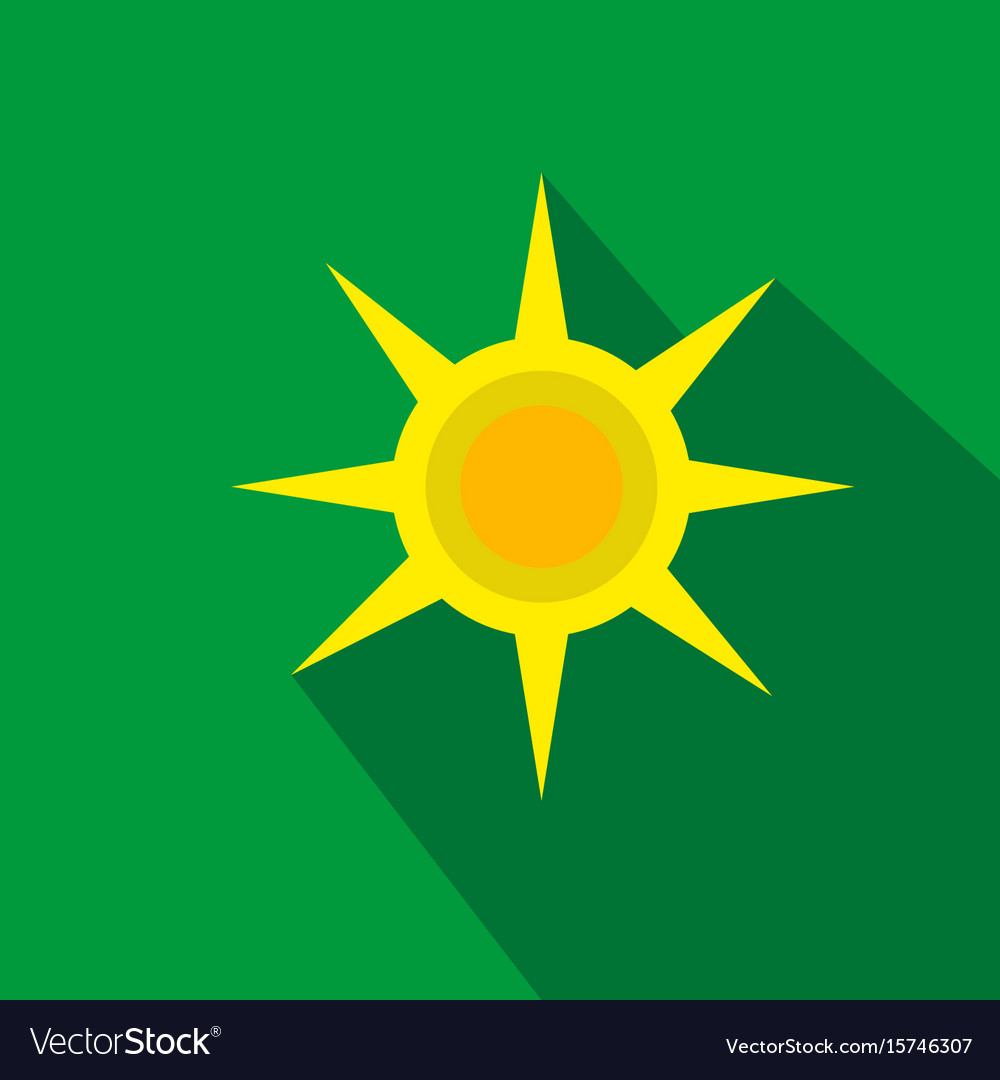 Sun flat cartoon icon summer brazil