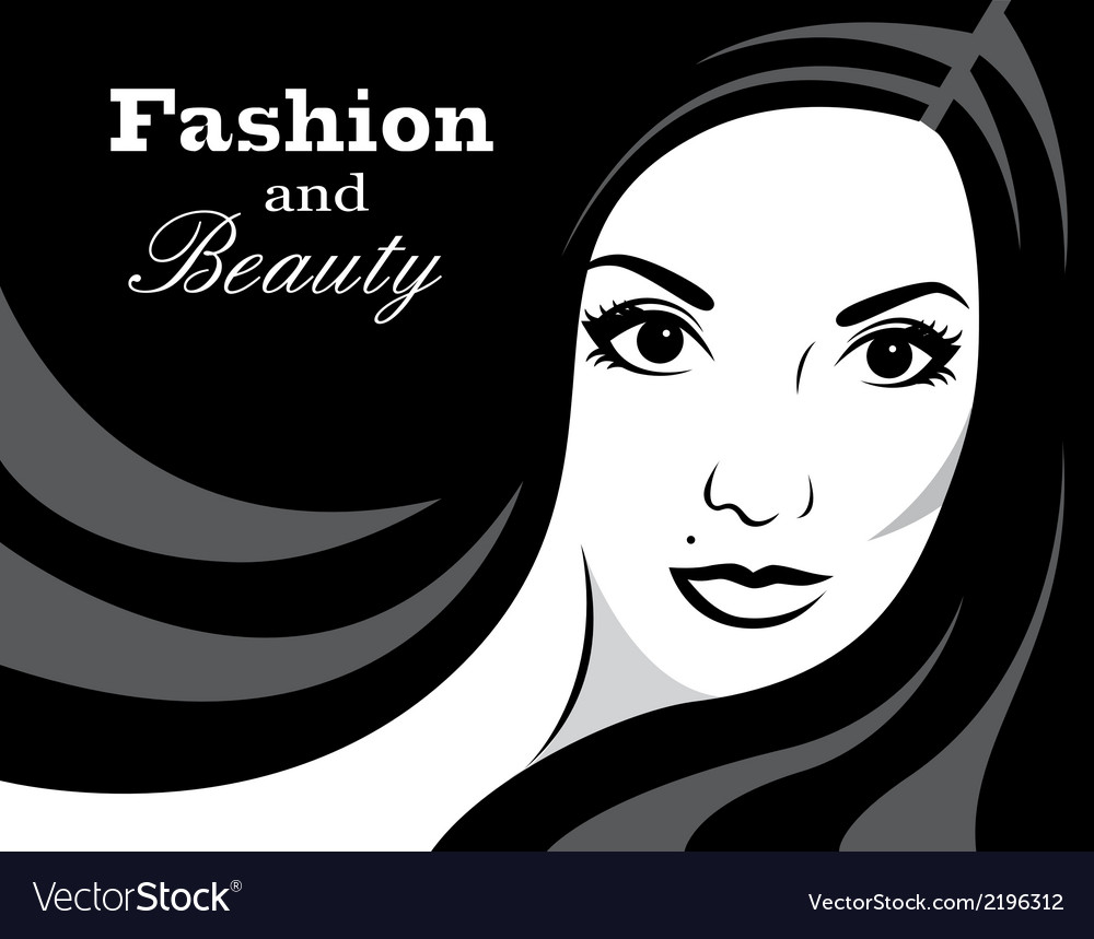 Beauty in black and white vector image
