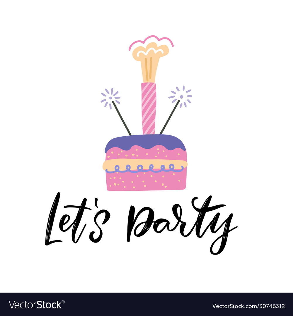 Terrific Birthday Cake With A Sparkler Firework As The Vector Image Funny Birthday Cards Online Alyptdamsfinfo