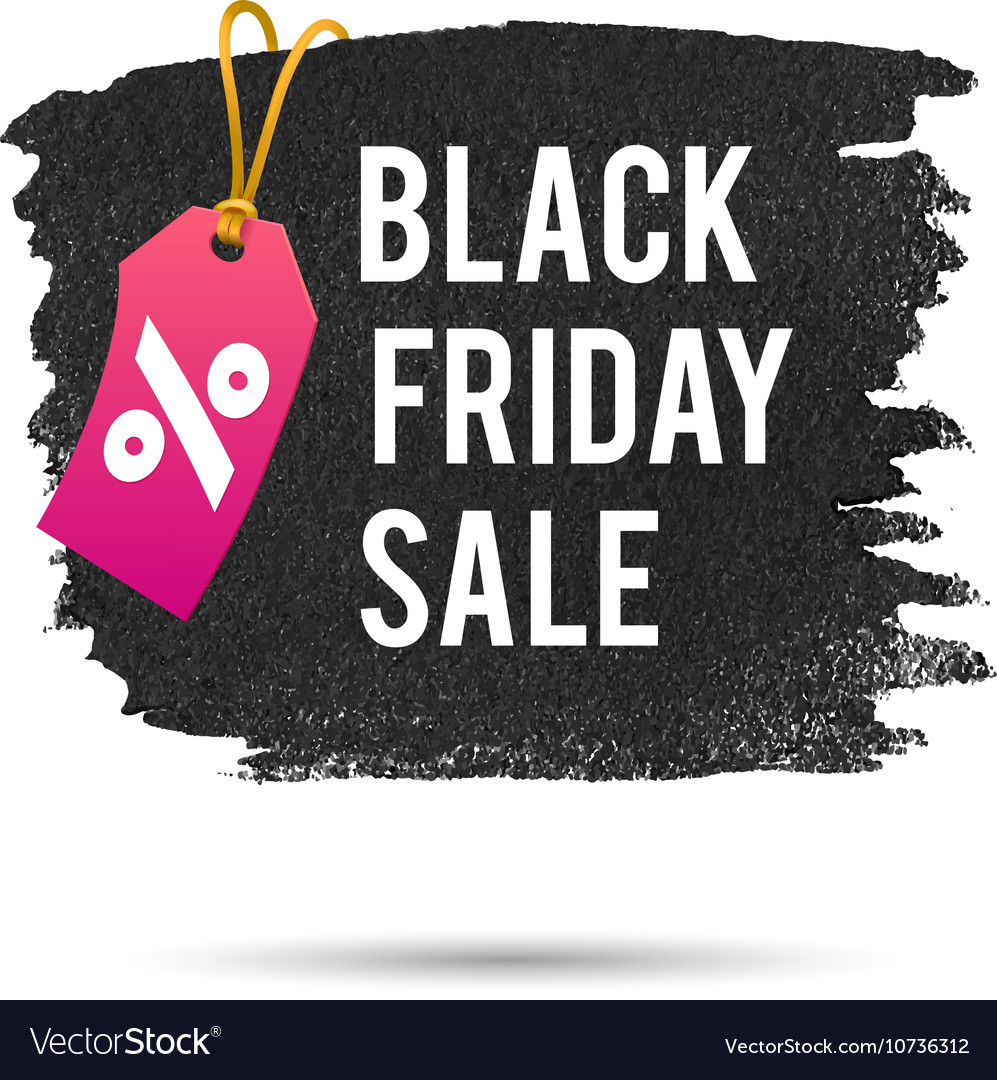 Black Friday Sale Promo Abstract Royalty Free Vector Image