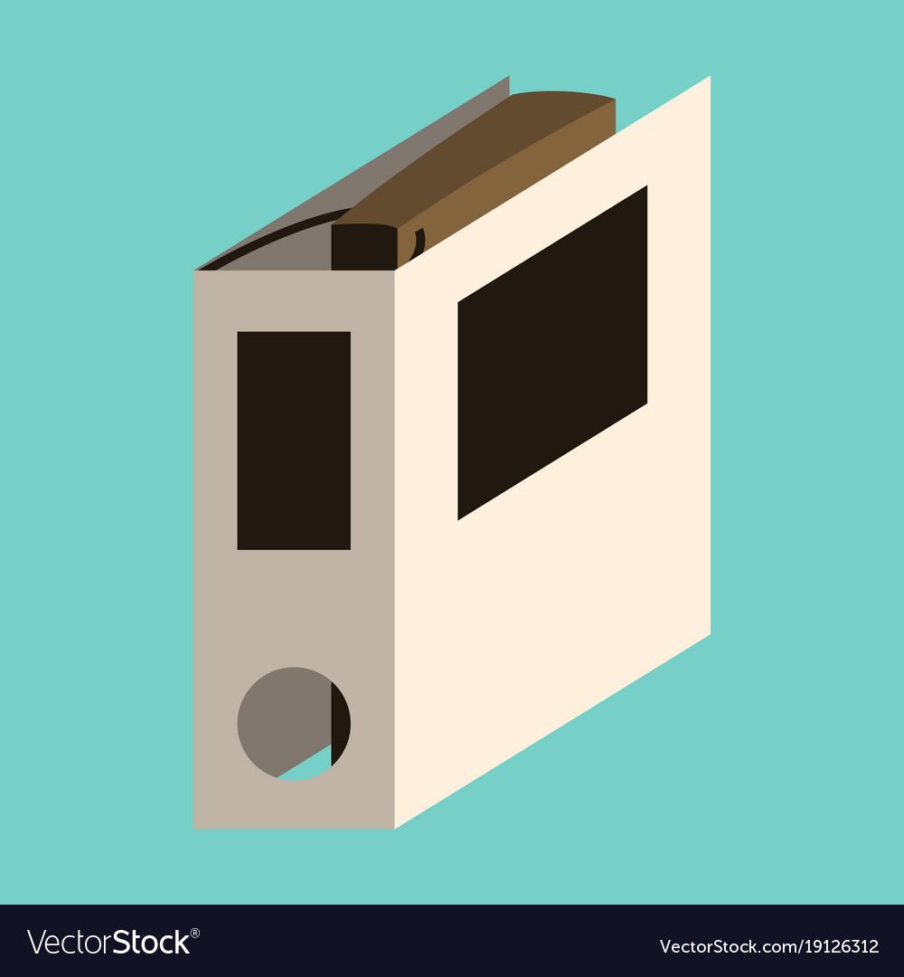 Flat icon on stylish background folder for