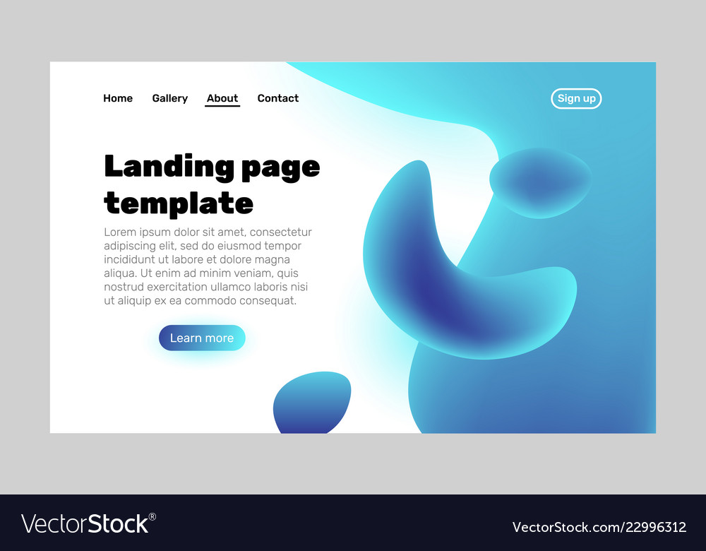 Landing page template