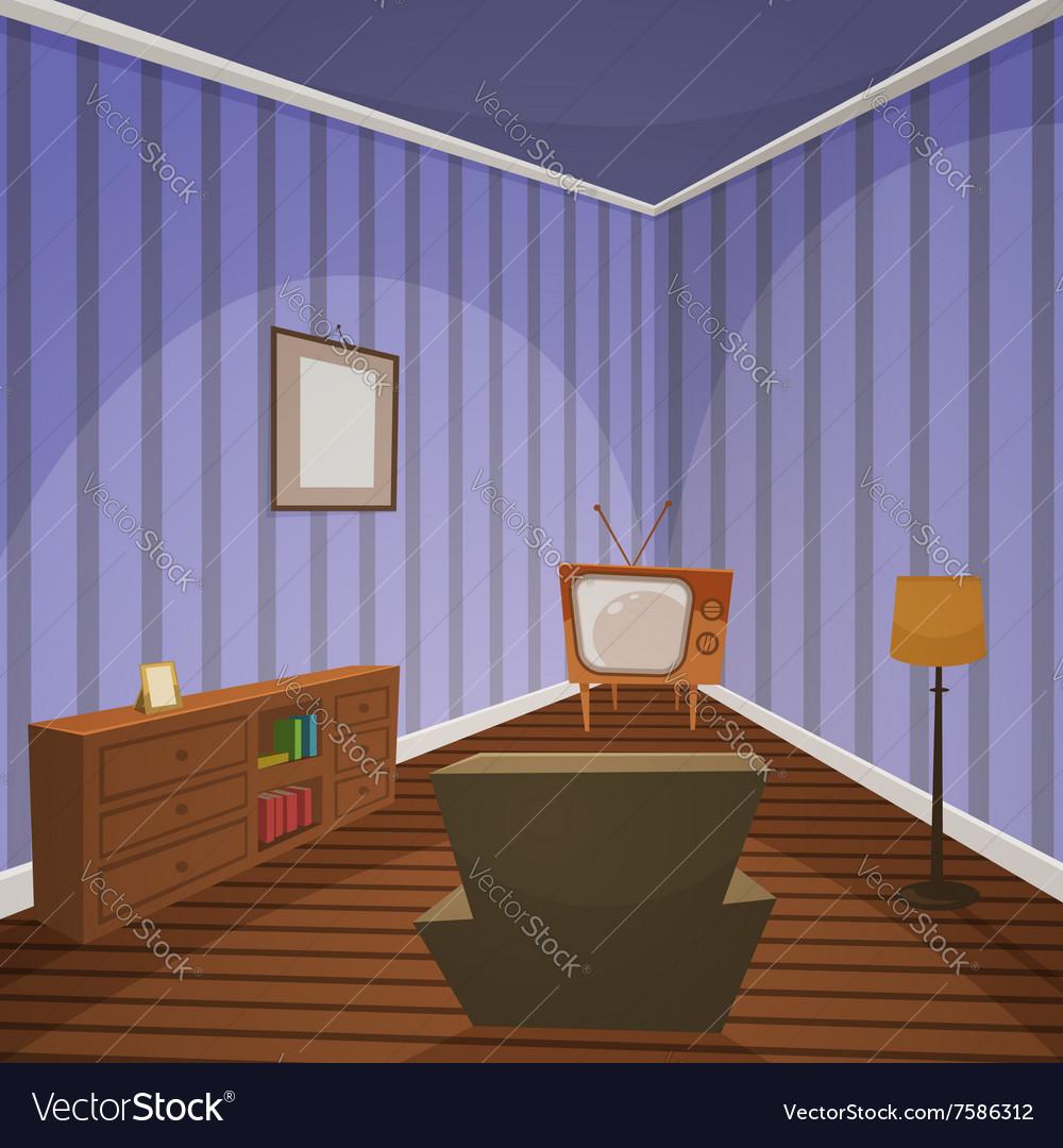 Retro Indoor vector image