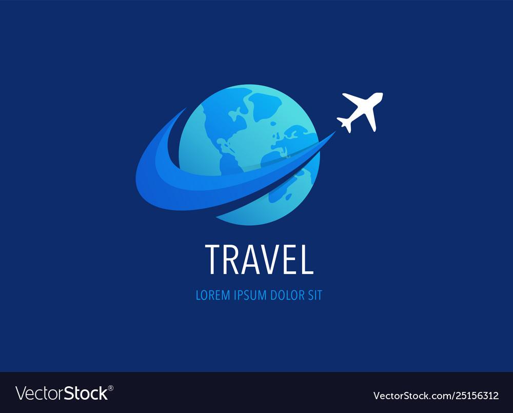 Travel tourism agency logo design icons