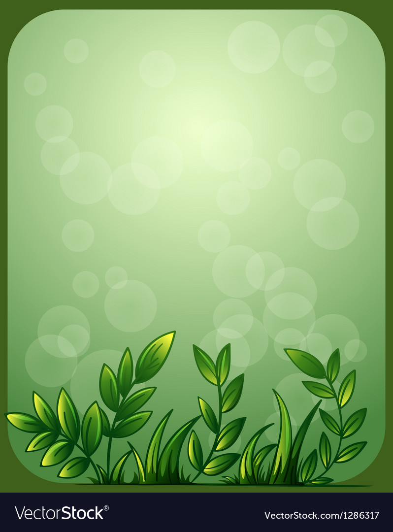 a stationery with green leaves royalty free vector image