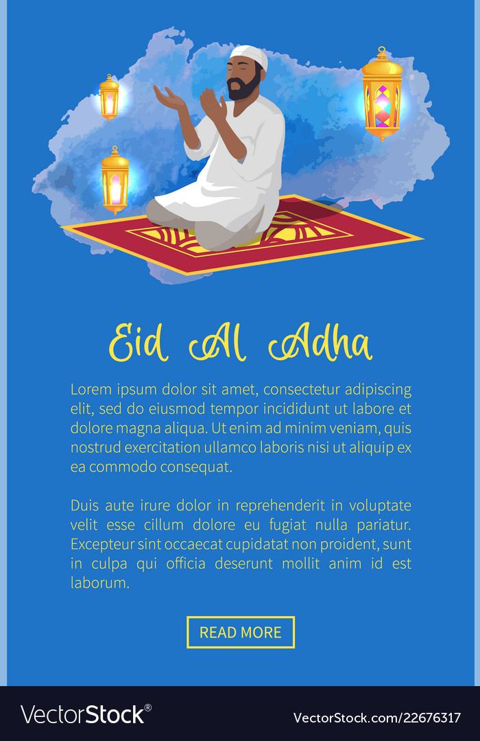 Eid al adha web page text