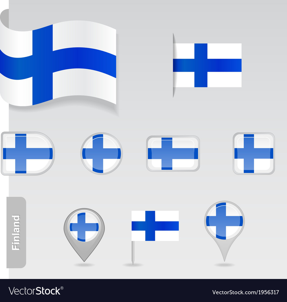 Finland icon set of flags