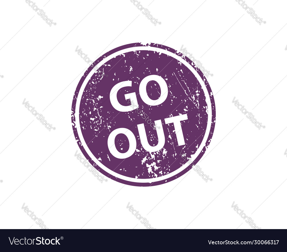 Go out stamp texture rubber cliche imprint web or
