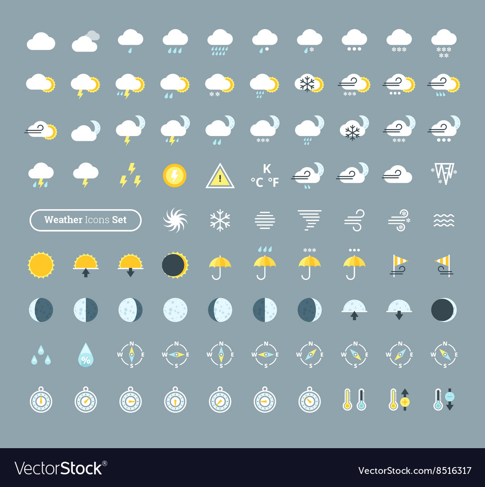 Huge pack of weather icons