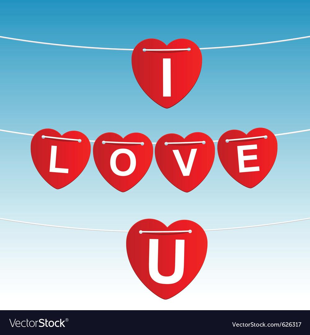 I love u vector image