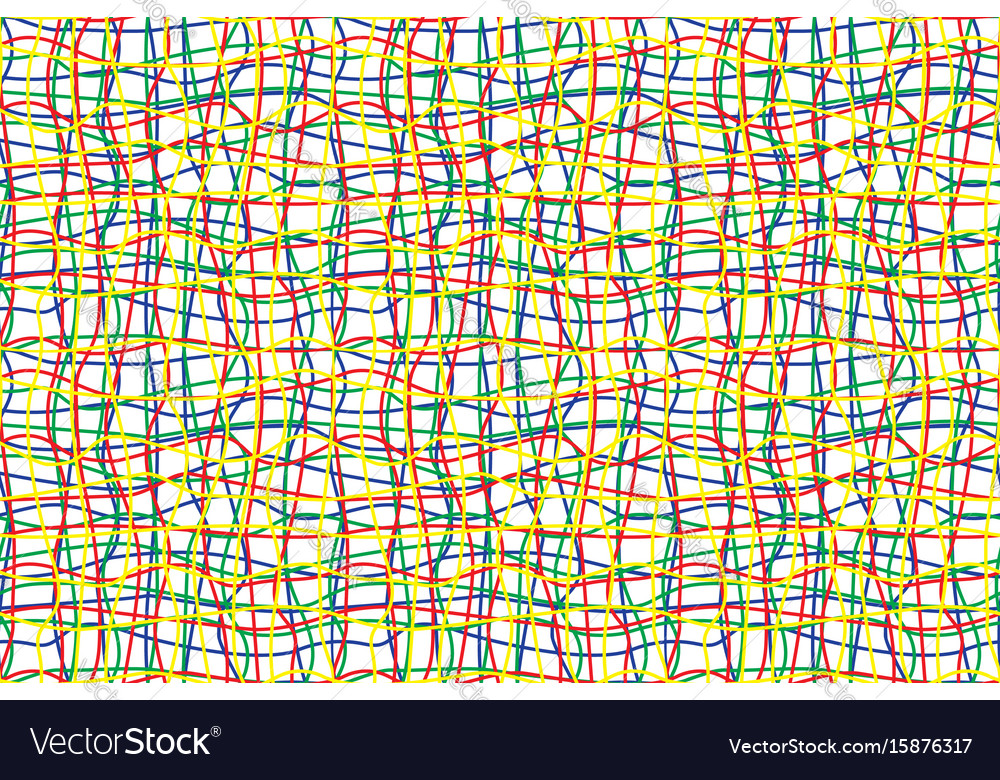 Intricate colored wires seamless pattern