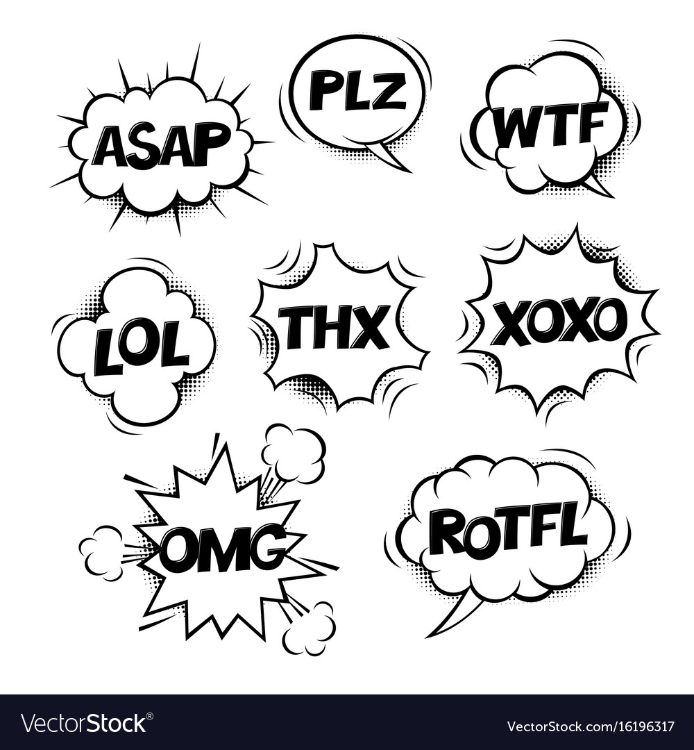 Most common used internet acronyms on comics