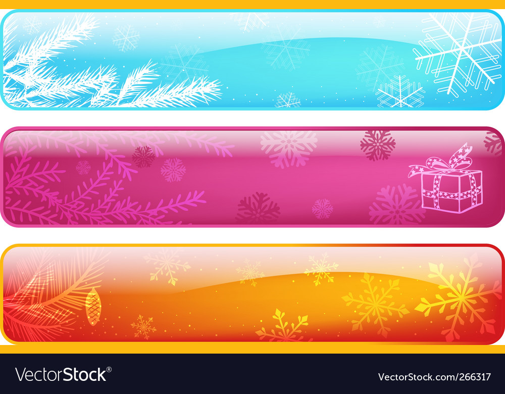 Set abstract Christmas banners