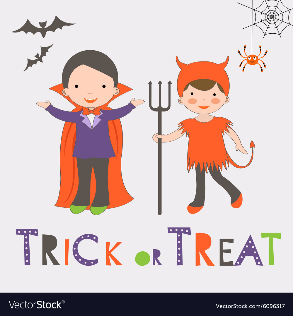Kids Trick or Treating Clipart - Clip Art Bay
