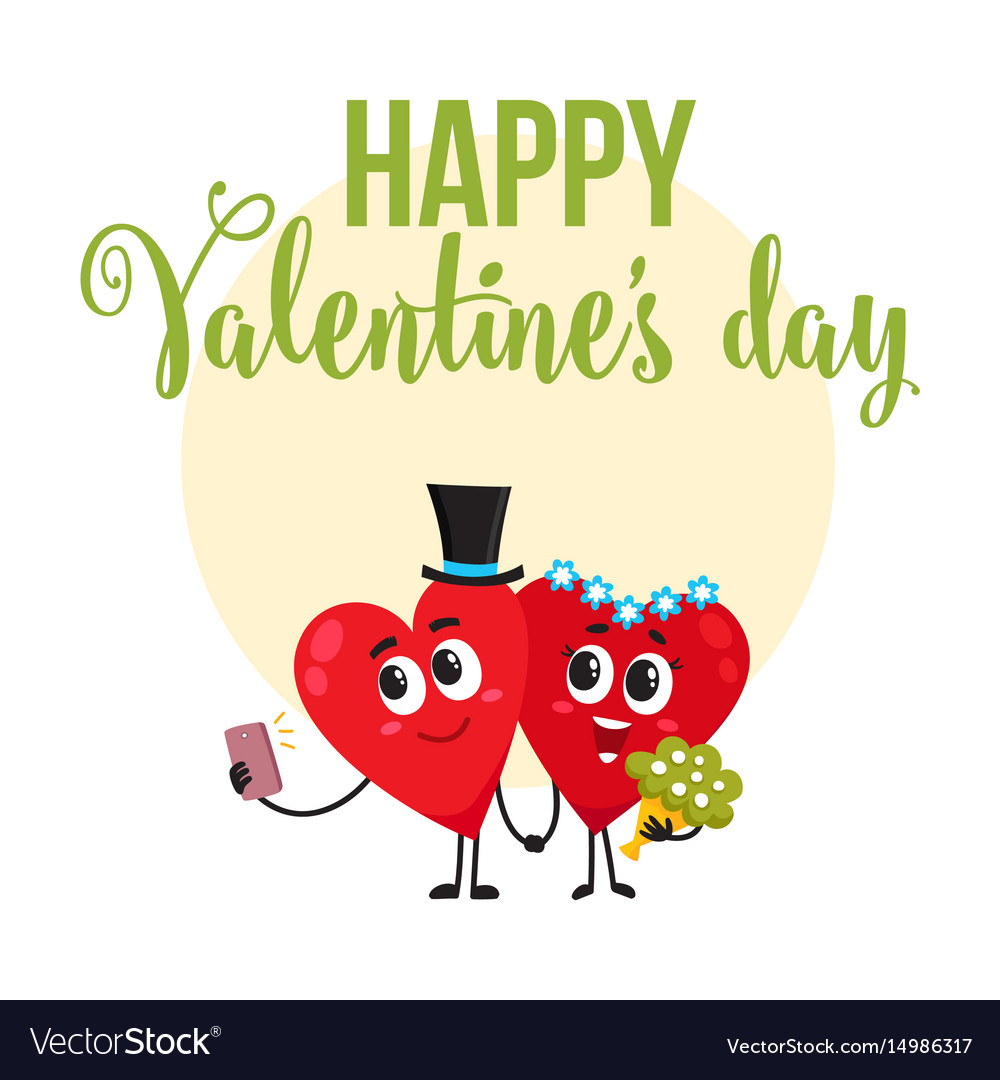 Valentine day greeting card design with heart