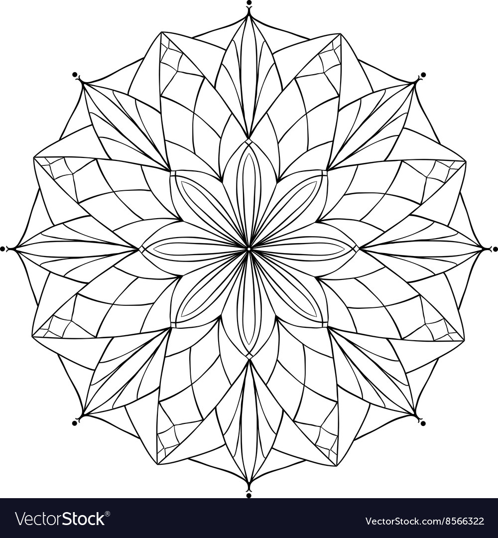 - Antistress Coloring Book With Geometric Royalty Free Vector
