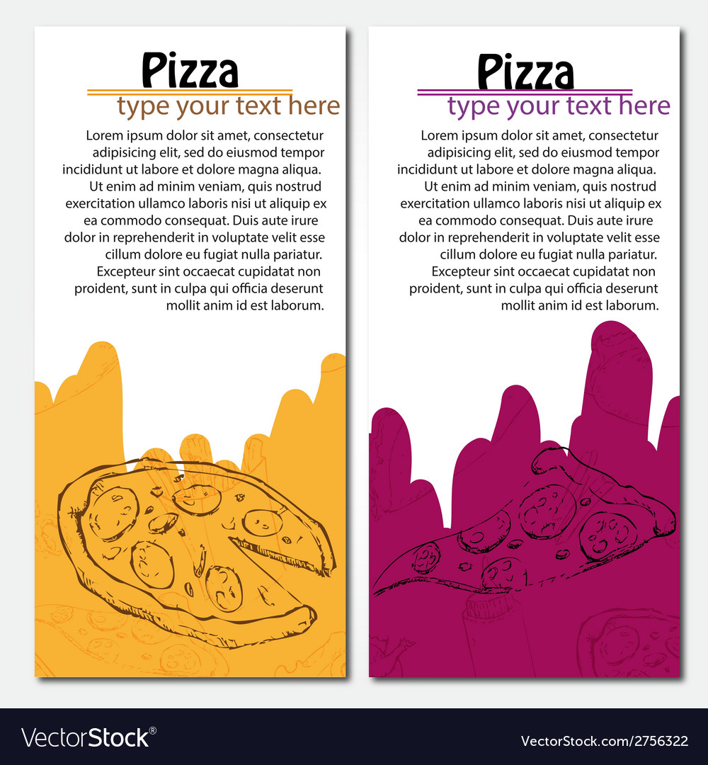Fast food background Pizza banners
