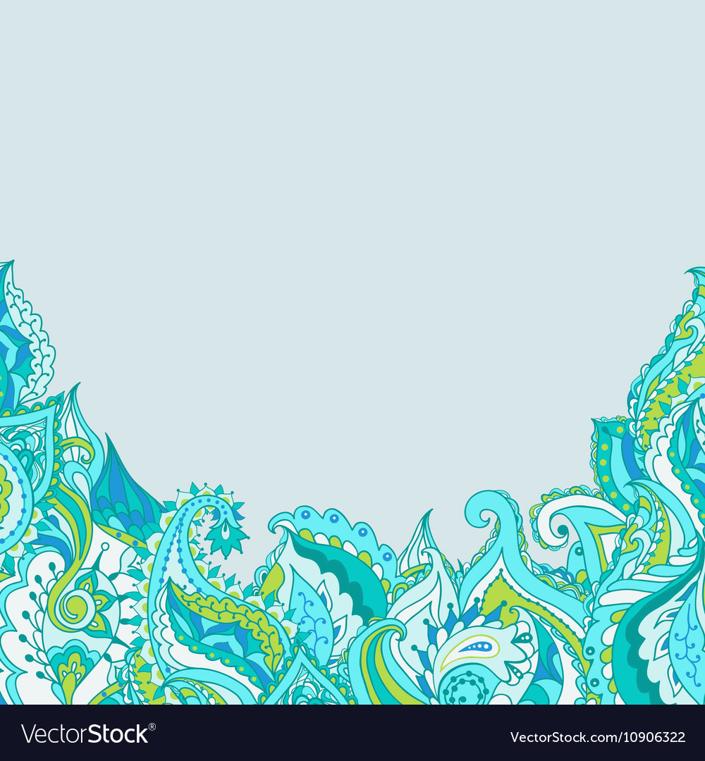 Frame with decorative paisley pattern vector image
