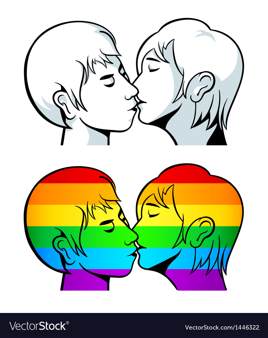 Gay kiss vector image