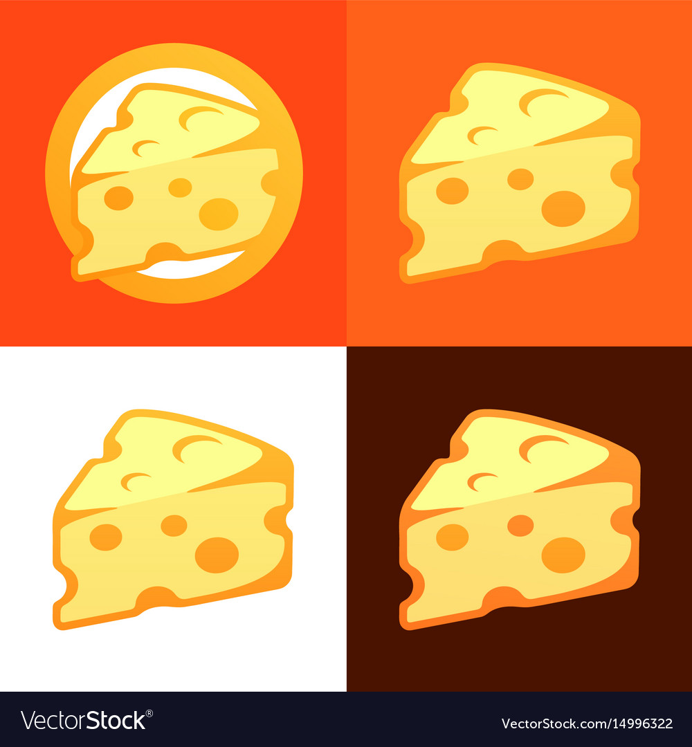 Style cheese icon vector image