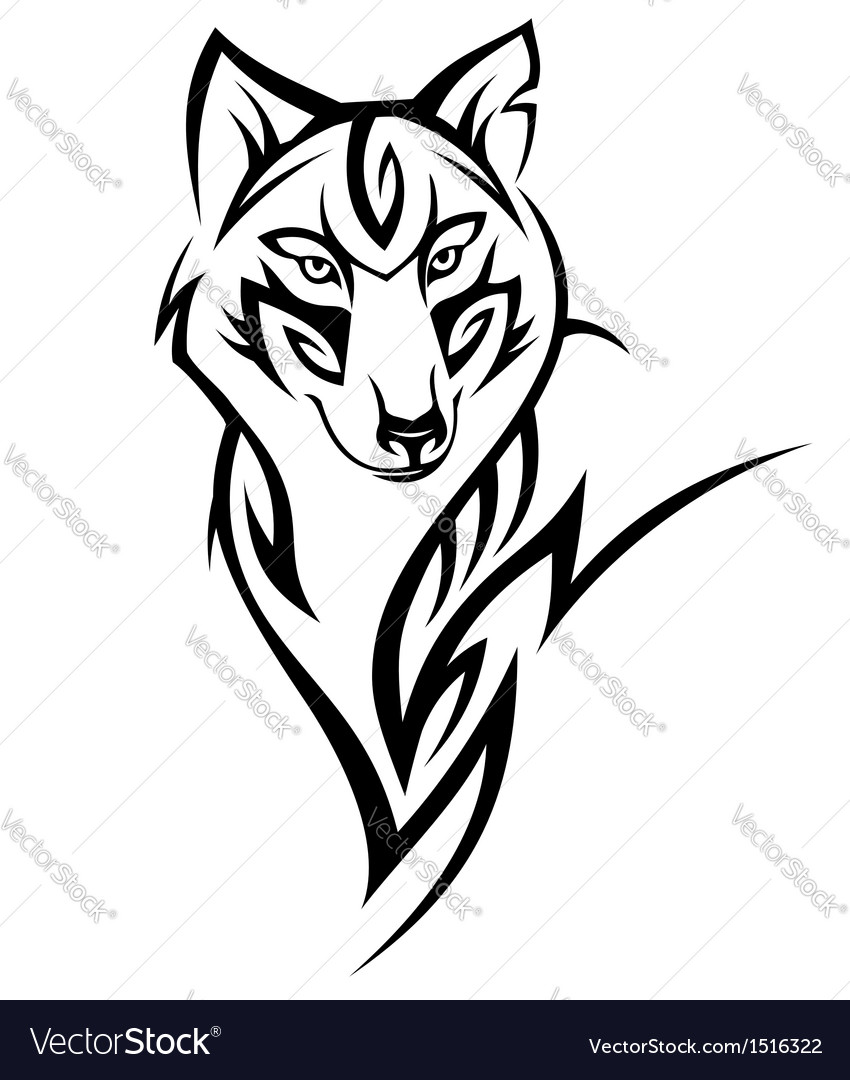 Wolf tattoo vector image