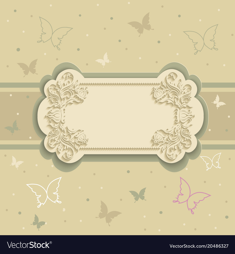 Background with butterflies on the frame