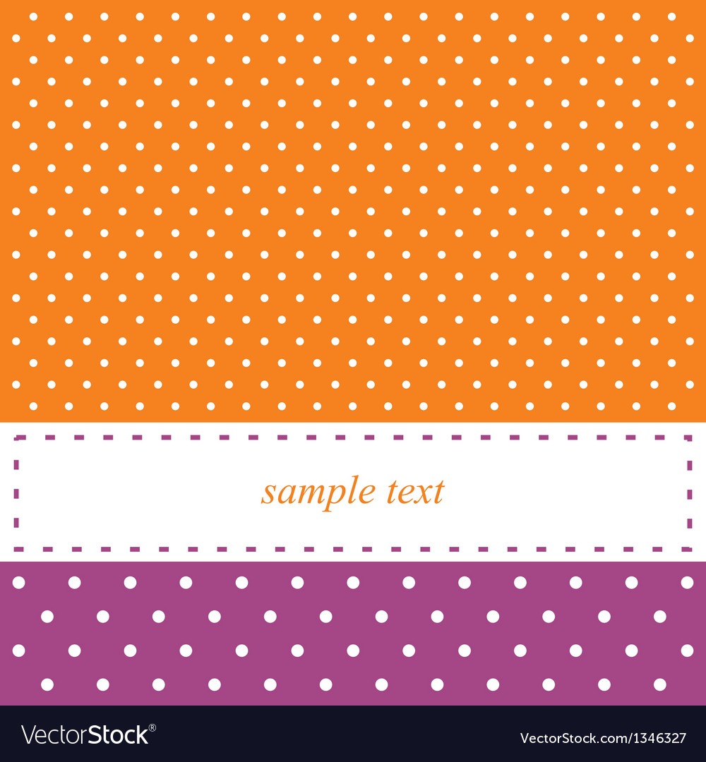Birthday card or party invitation with white dots vector image