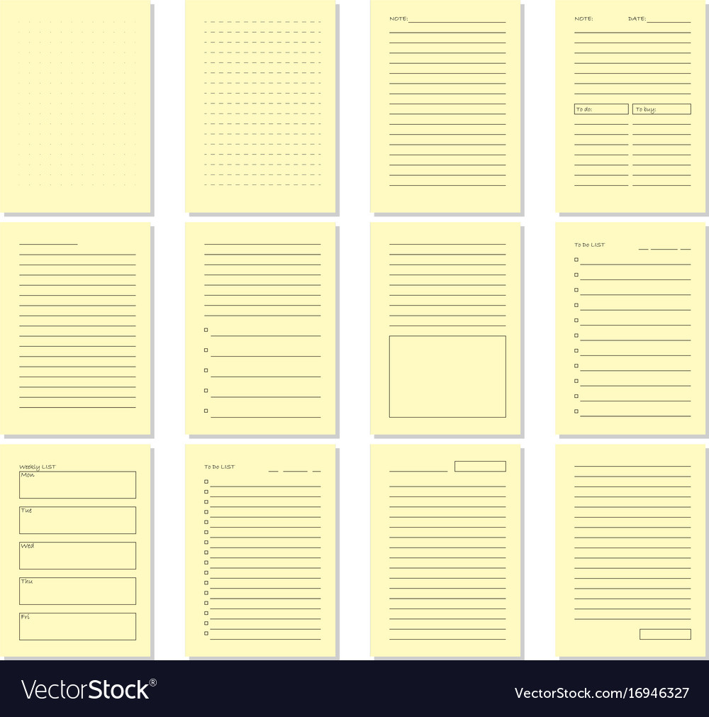 blank beige notebook page template royalty free vector image