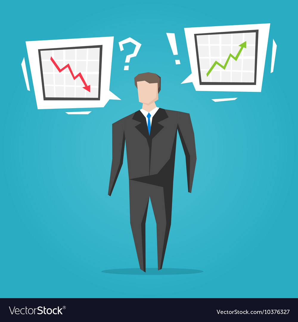 Businessman with different charts